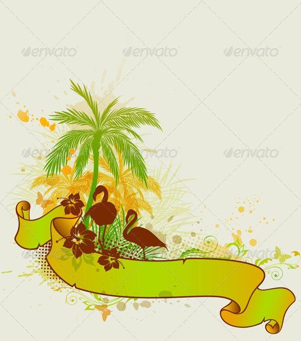Palms and Flamingo - Seasons Nature