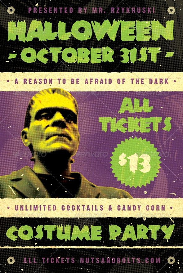 Frankenfest - Halloween Flyer Template - Holidays Events