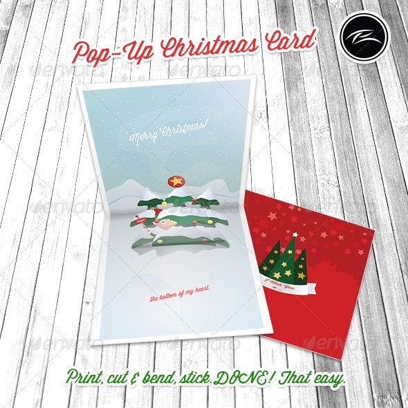Pop-Up Christmas Card - Holiday Greeting Cards