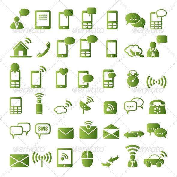 Communication Icons - Communications Technology