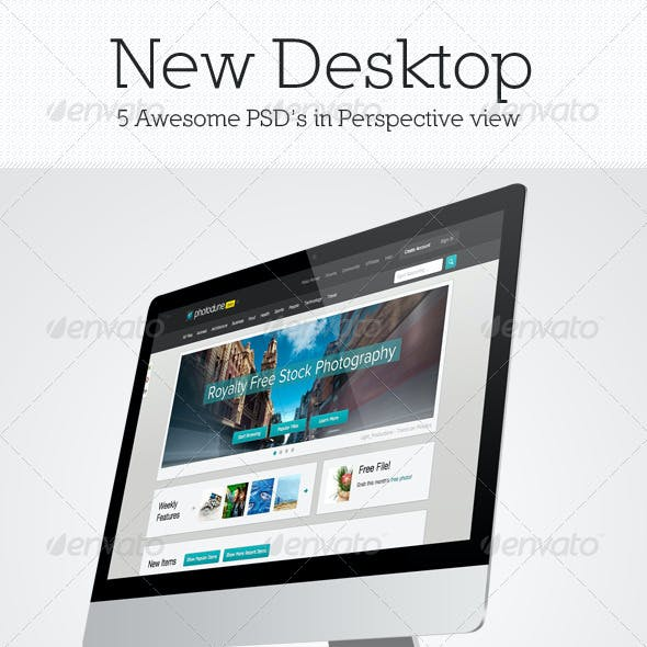 New Desktop Mockup Pack