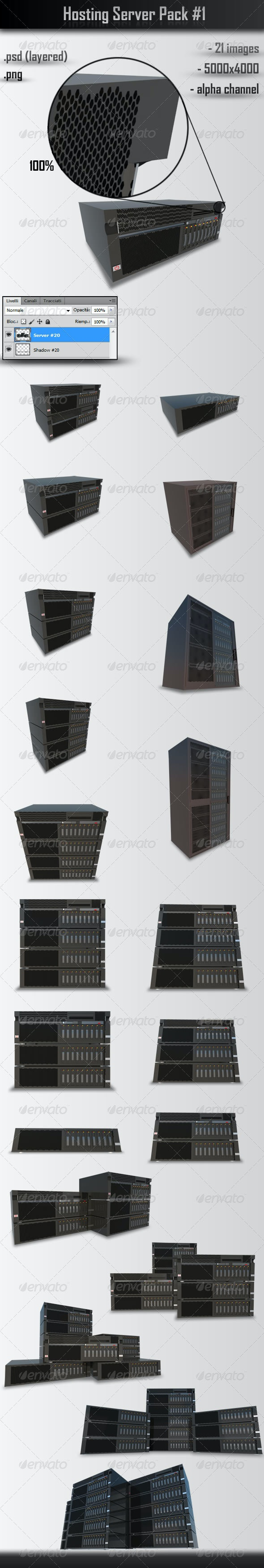 Hosting Server Pack #1 - Technology 3D Renders