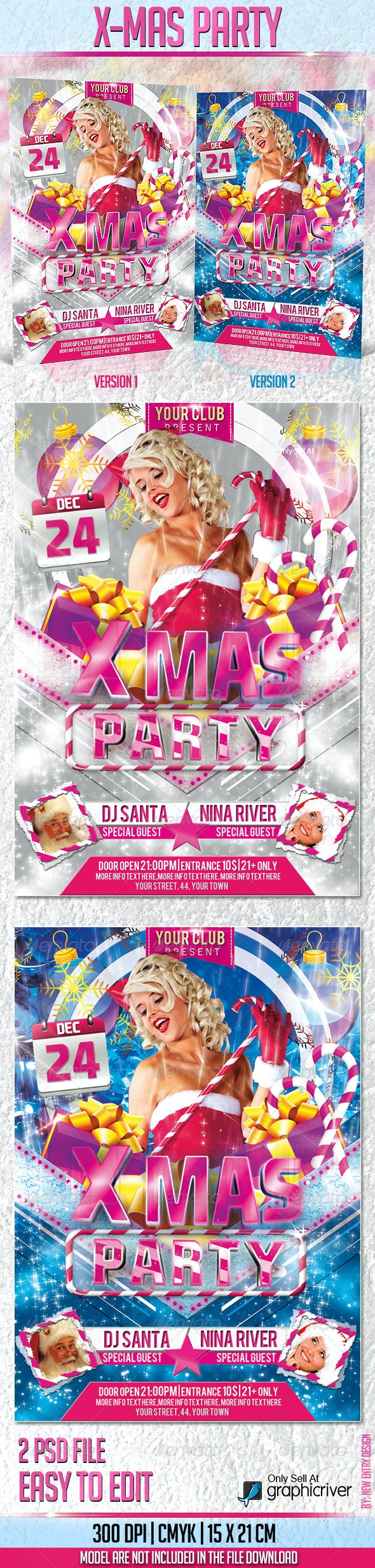 X-Mas Party Flyer Template - Holidays Events