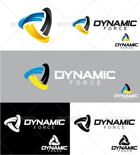 Dynamic Force Logo - Symbols Logo Templates