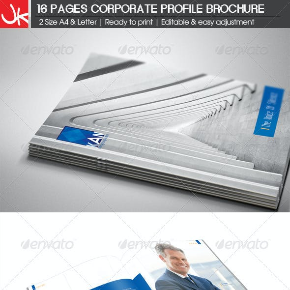 16 Pages Corporate Profile Brochure