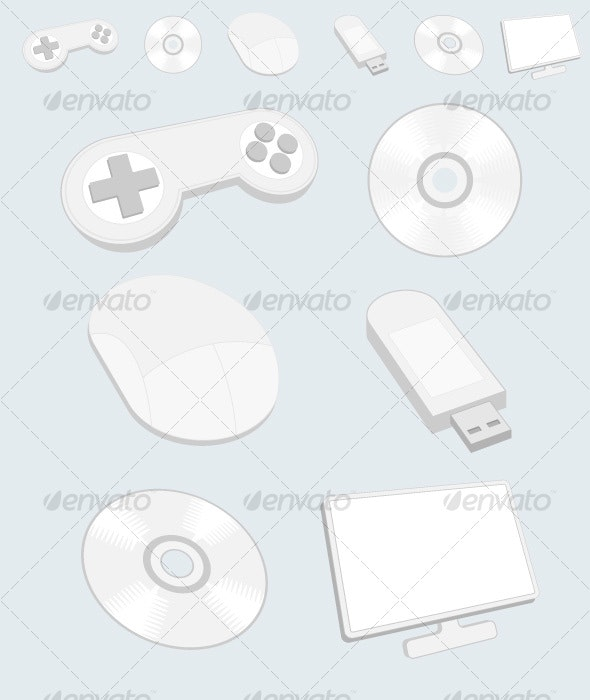 Media Vector Icons Light Version - Web Icons