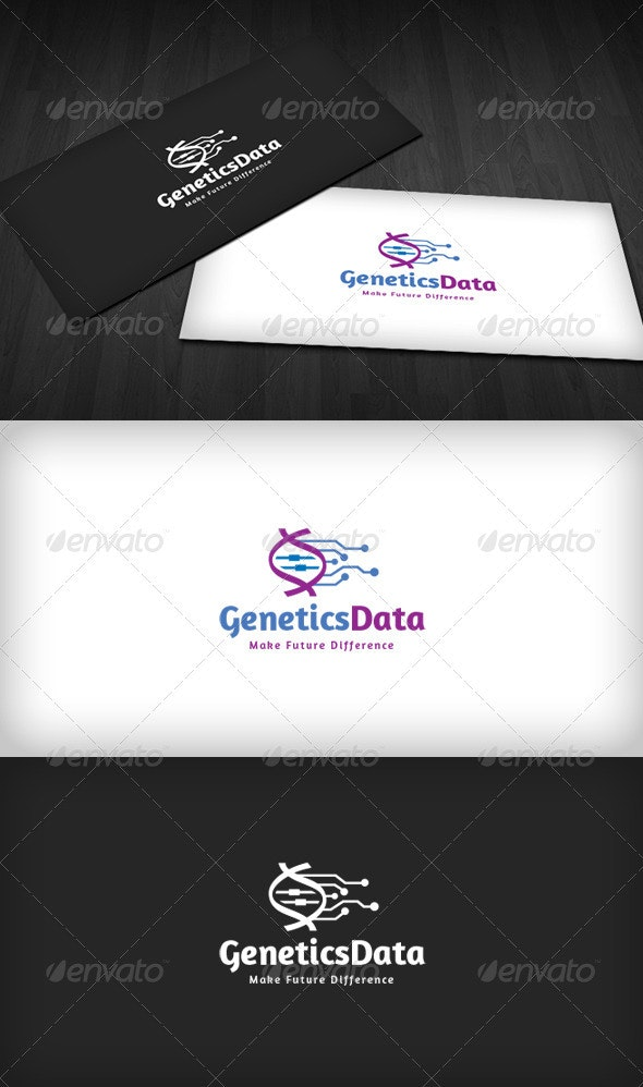 Genetics Data Logo - Vector Abstract
