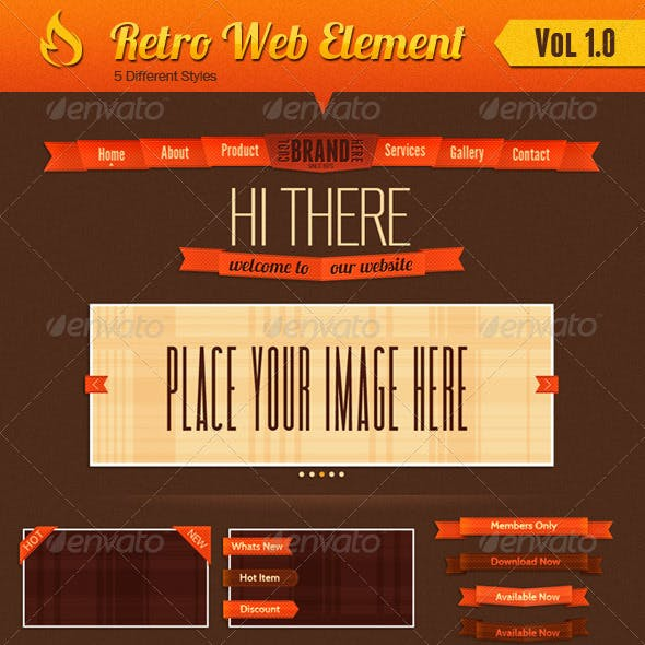 Retro Web Element