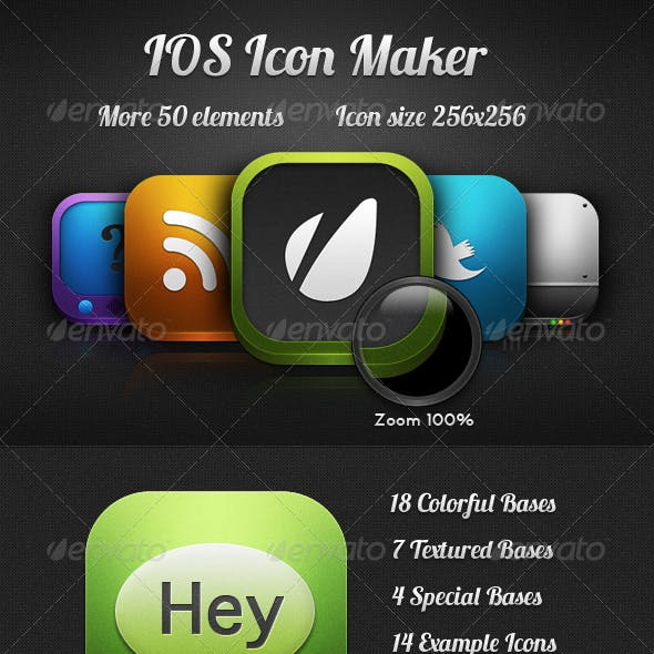 """Candy"" IOS Icons Maker"