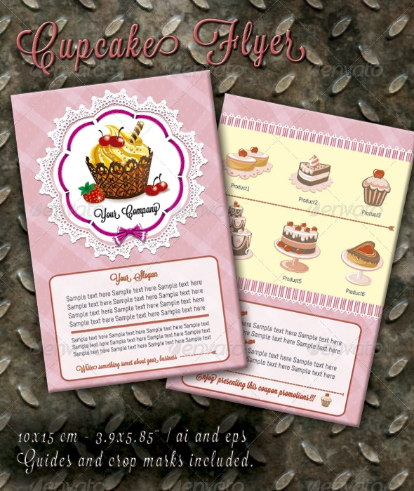 Cupcakes Flyer - Restaurant Flyers