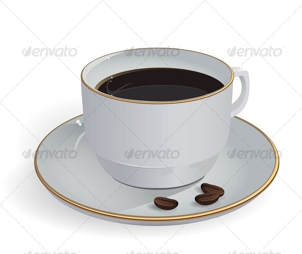 cup with coffee - Food Objects