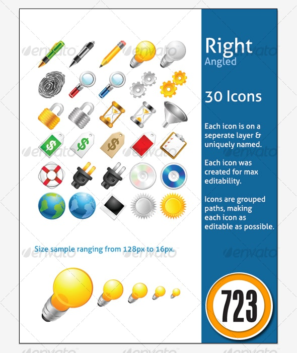 Right Angled Icons - Web Icons