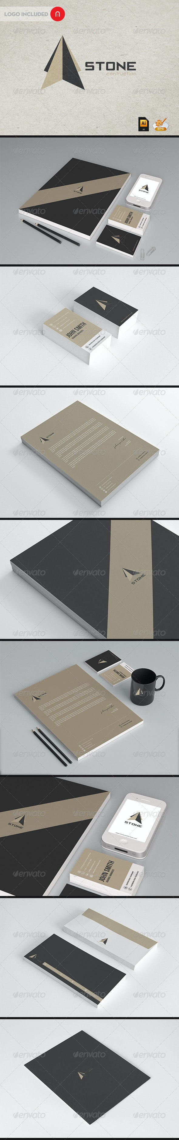 Stationary & Identity - Stone contructions - Stationery Print Templates
