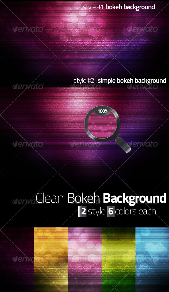 Clean Bokeh Backgrounds - Abstract Backgrounds