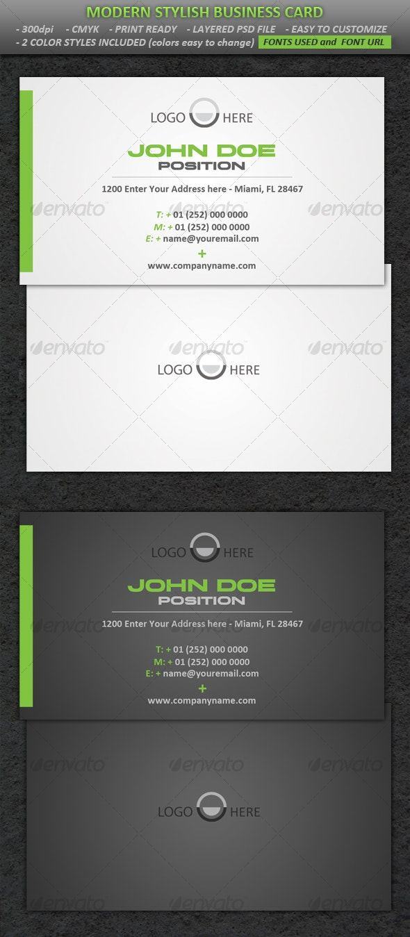 Modern Stylish Business Card - Corporate Business Cards