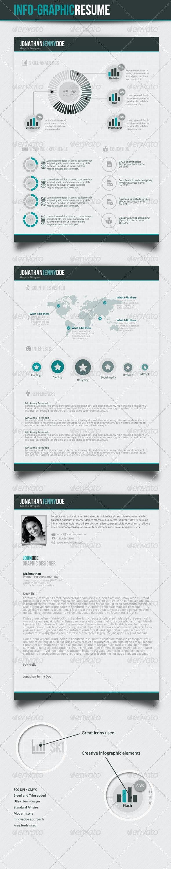 Info graphic CV  - Resumes Stationery