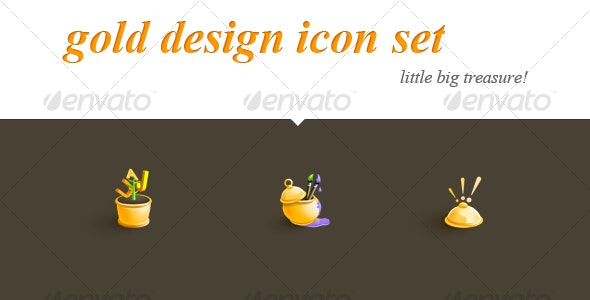 Gold Design Icon set - Web Icons