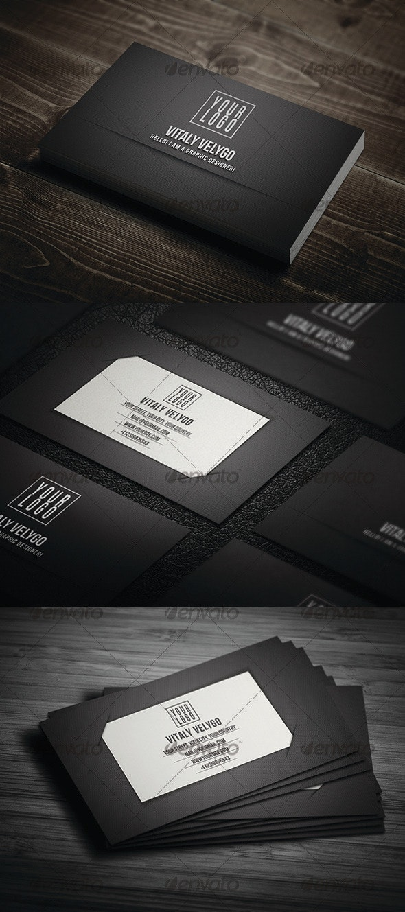 Black Tone Business Card - Corporate Business Cards