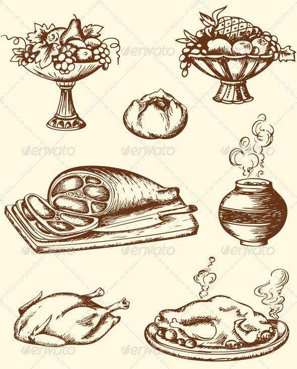 Vintage Food - Food Objects