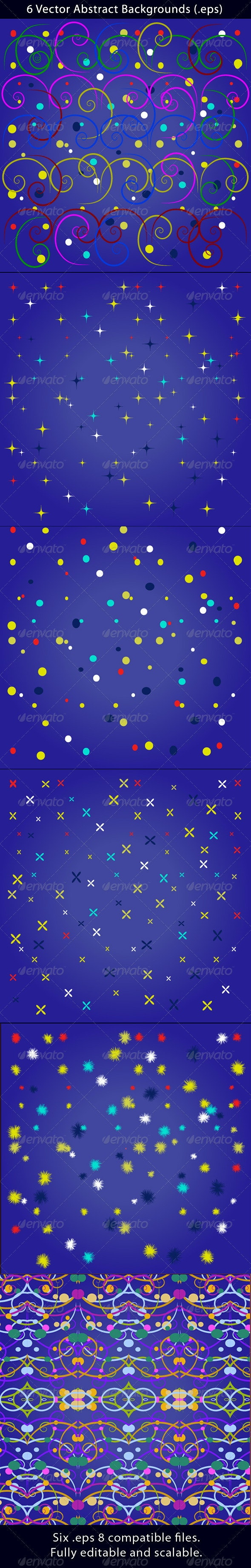 6 Vector Abstract Backgrounds - Backgrounds Decorative