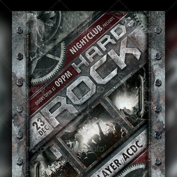 Hard Rock Concert / Party Flyer