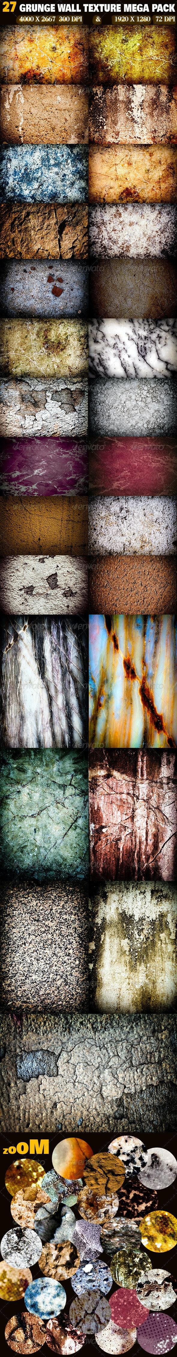 27 Grunge Wall Texture Mega Pack - Industrial / Grunge Textures