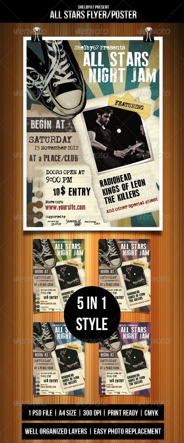All Stars Flyer Template - Events Flyers