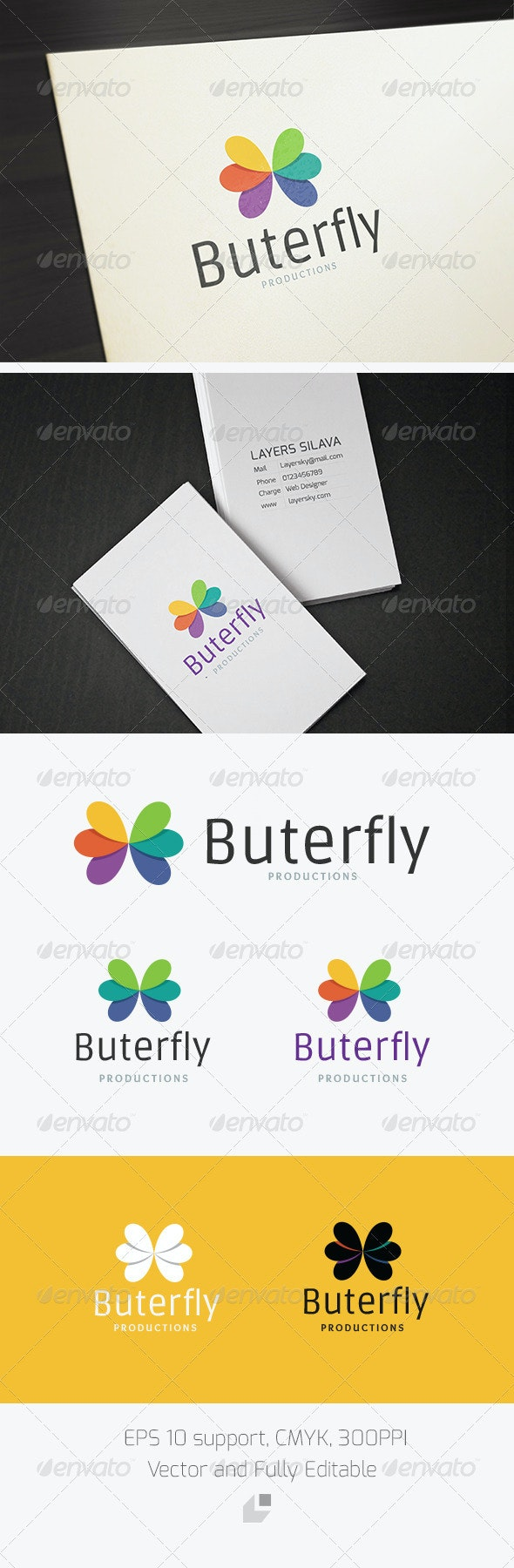 Butterfly Logo - Animals Logo Templates