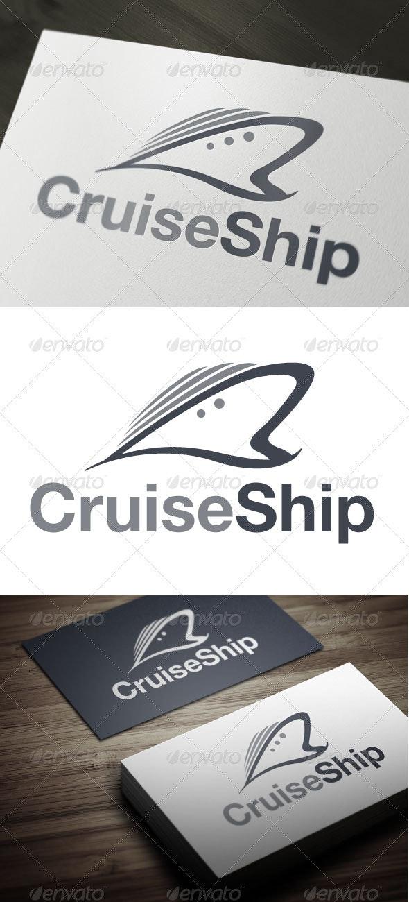 Cruise Ship - Objects Logo Templates