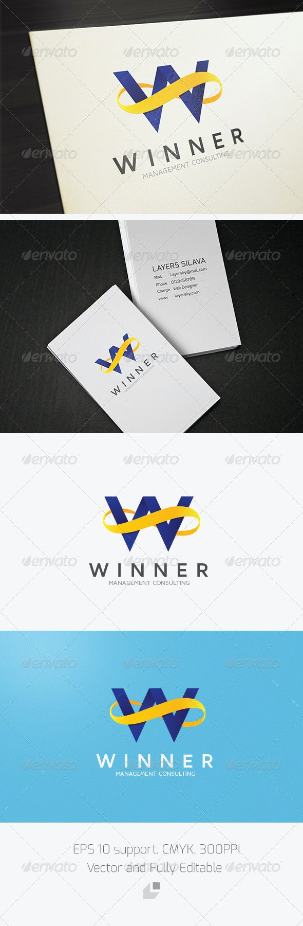 Winner Infinity Logo - Letters Logo Templates