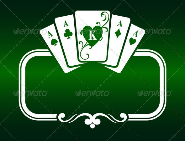 Poker Frame with Cards - Decorative Vectors