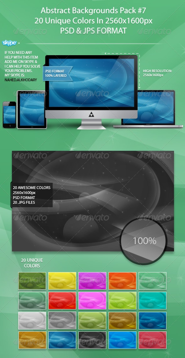 Abstract Background Pack 07 - Backgrounds Graphics