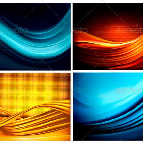 Set of Business Elegant Coloful Abstract Background