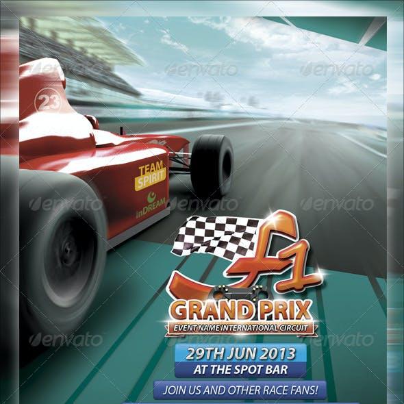 F1 Grand Prix Flyer