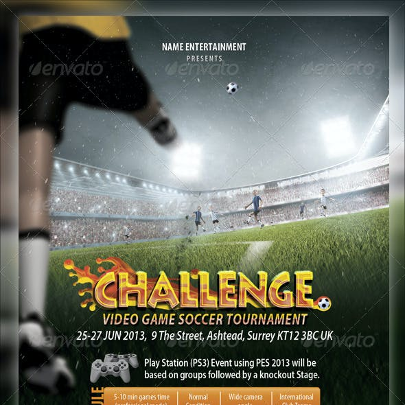 Soccer Video Game Flyer