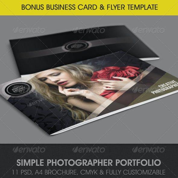 Simple Photographer Portfolio