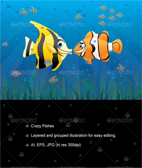 Crazy Fishes - Animals Characters