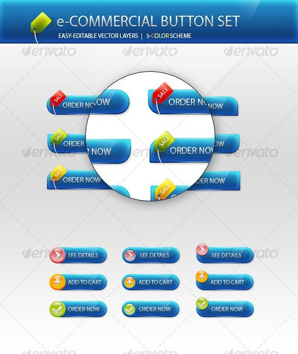 e-Commercial Button Set - Buttons Web Elements