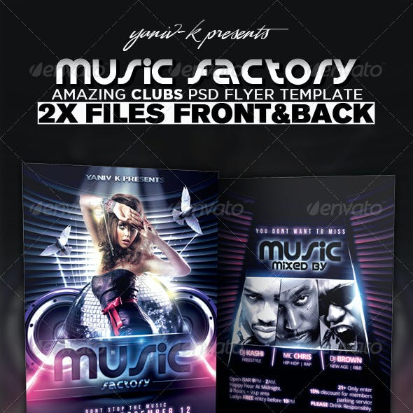 Music Factory Flyer Template