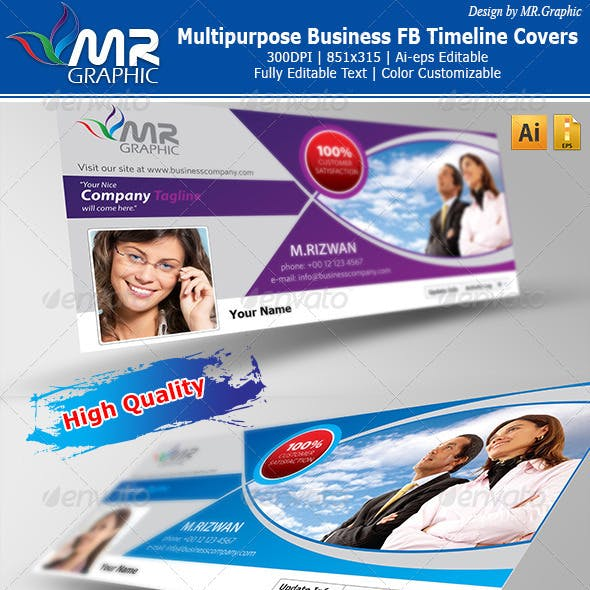 Multipurpose Business FB Timeline Covers