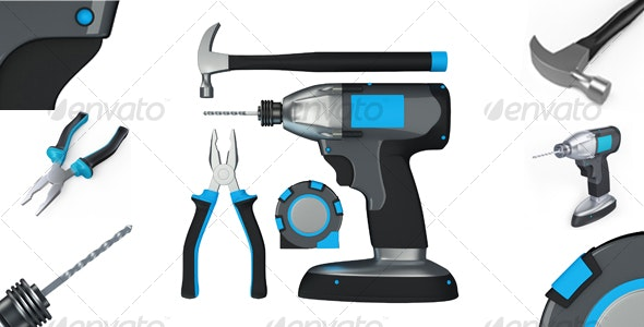 Carpentry Tools - Objects 3D Renders