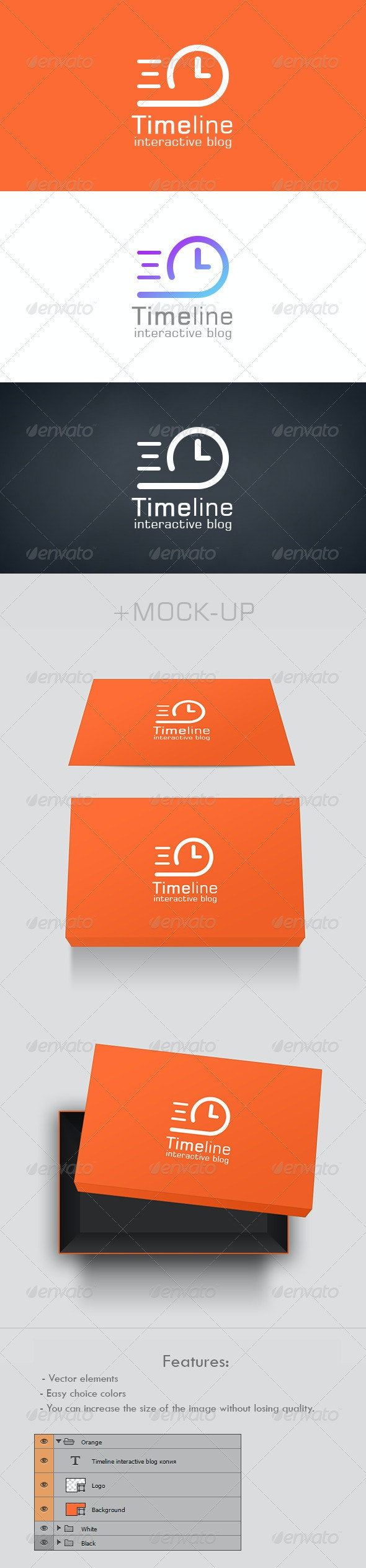 TimeLine Logo - Objects Logo Templates