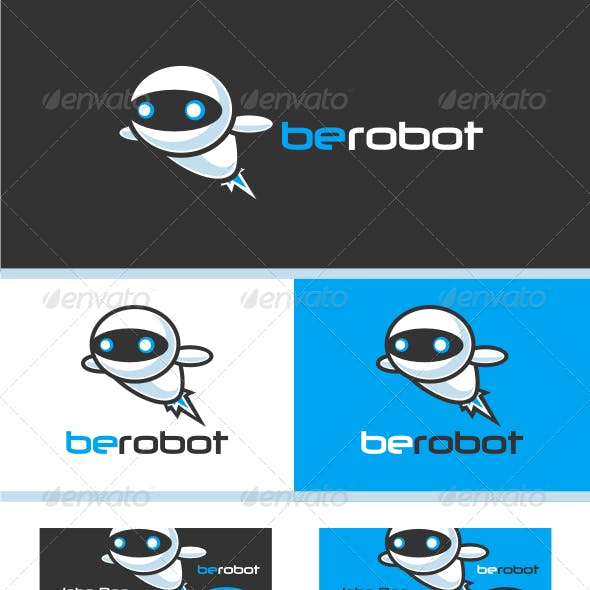 Modern Robot V.1 Logo Template
