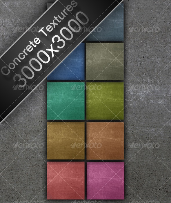 10 Colored Concrete High-Res Textures - Concrete Textures