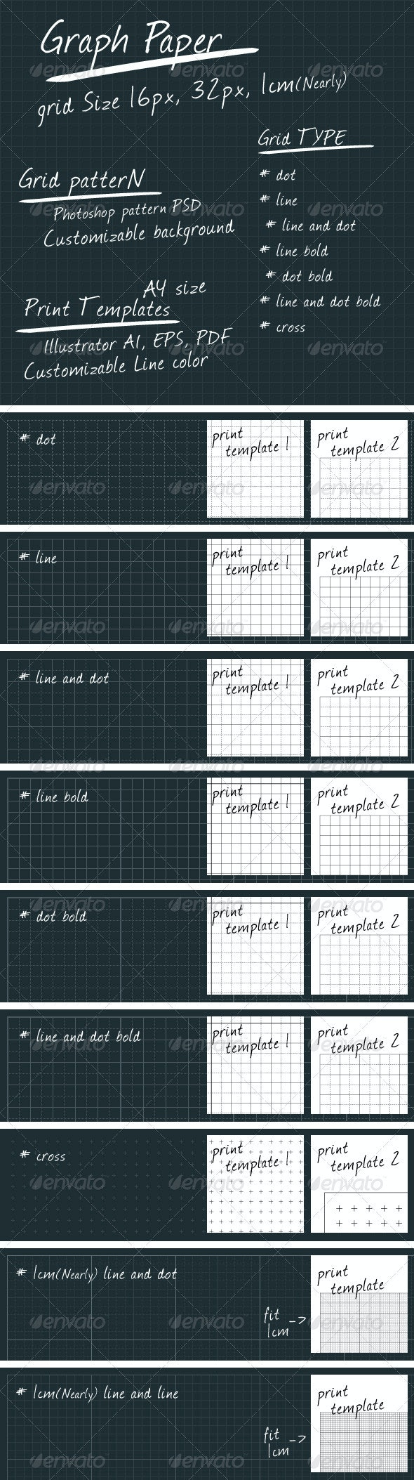 Graph Paper - Patterns Backgrounds