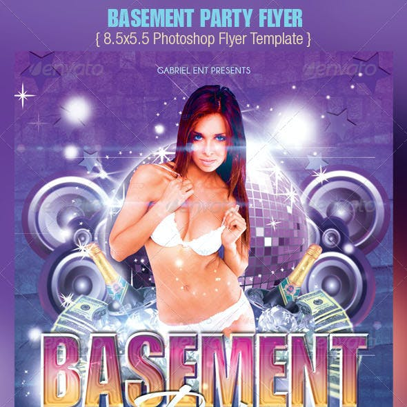 Basement Party Flyer Template