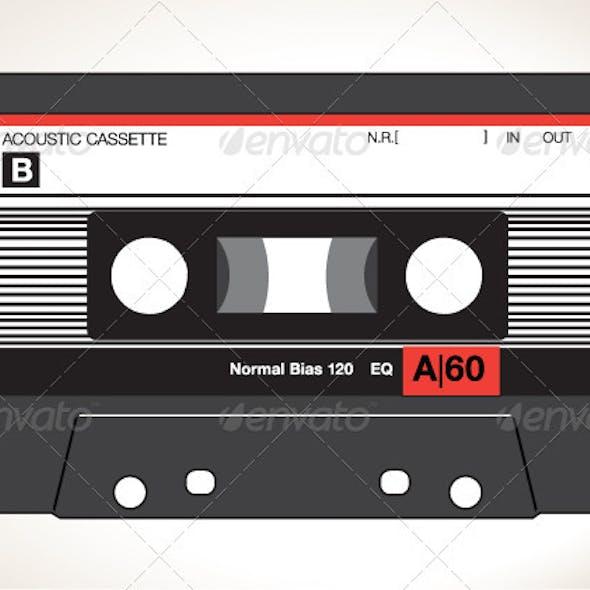 Detailed Vector Cassette Tape