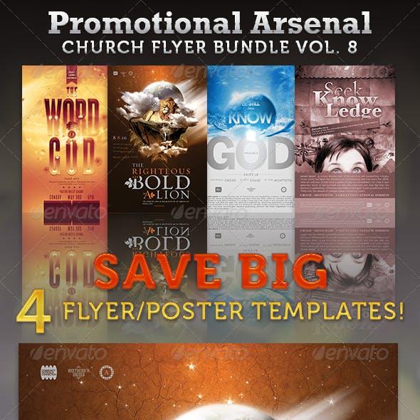 Promotional Arsenal Church Flyer Bundle 8