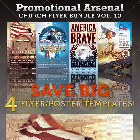 Promotional Arsenal Church Flyer Bundle 10