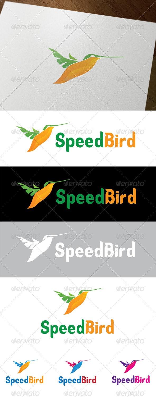 Speed Bird - Animals Logo Templates